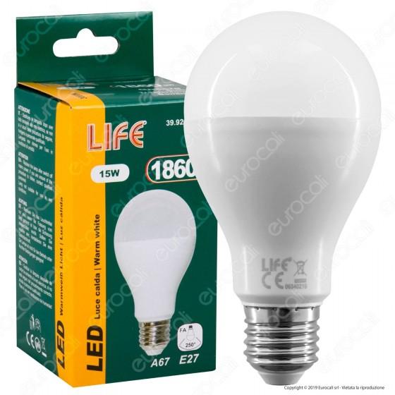 Life Lampadina LED E27 15W Bulb A67 - mod. 39.920316C / 39.920316N / 39.920316F