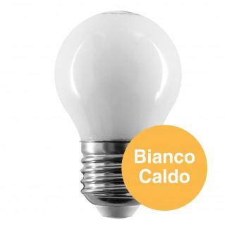 10 Lampadine LED Intereurope Light E27 4W MiniGlobo G45 Bianca Filamento - Pack Risparmio