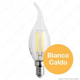 50 Lampadine LED SkyLighting E14 4W Candela Fiamma Filamento - Pack Risparmio