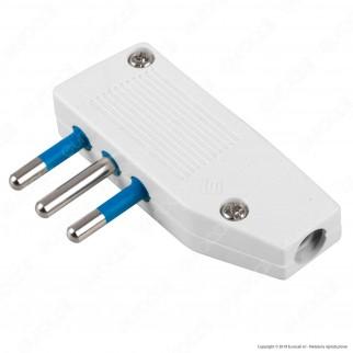 Ecova Spina Singola 10A con Uscita Cavo Reversibile Colore Bianco - Mod. 33027