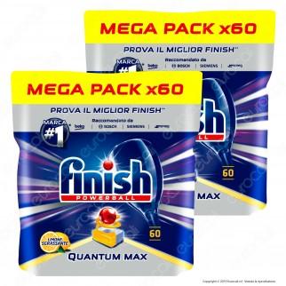 Kit Risparmio Finish Powerball Quantum Max al Limone per Lavastoviglie - 2 Confezioni da 60 Pastiglie