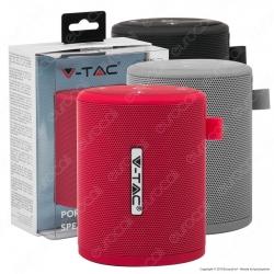 V-Tac VT-6244 Speaker Bluetooth Portatile 5W con Microfono Ingresso MicroSD e Radio FM - SKU 7719 / 7720 / 7721