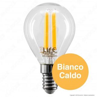 Life Lampadina LED E14 6W MiniGlobo P45 Filamento - mod. 39.920259C1 / 39.920259N