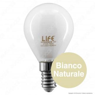 Life Lampadina LED E14 6W MiniGlobo P45 White Filamento - mod. 39.920258CM