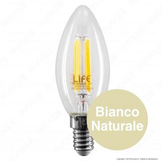 Life Lampadina LED E14 6W Candela Filamento - mod. 39.920023C1 / 39.920023N