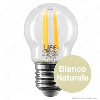 Life Lampadina LED E27 6W MiniGlobo P45 Filamento - mod. 39.920259C1 / 39.920259N