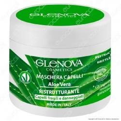 Glenova Cosmetics Maschera per Capelli Ristrutturante con Aloe Vera - Barattolo da 500ml