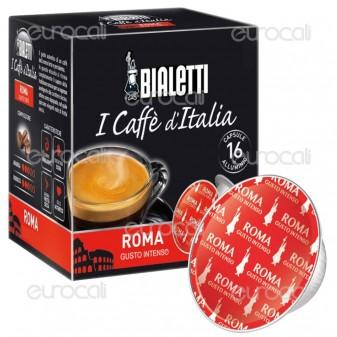 16 Capsule Caffè Bialetti Roma Gusto Forte Cialde Originali Bialetti