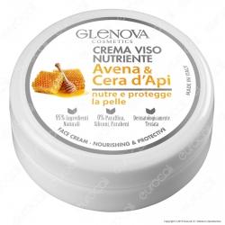 Glenova Cosmetics Crema Viso Nutriente con Avena e Cera D'Api - Barattolo da 120ml