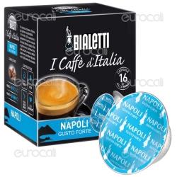 16 Capsule Caffè Bialetti Napoli Gusto Forte Cialde Originali Bialetti