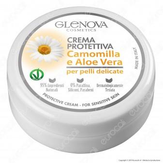 Glenova Cosmetics Crema Protettiva con Camomilla e Aloe Vera - Barattolo da 120ml