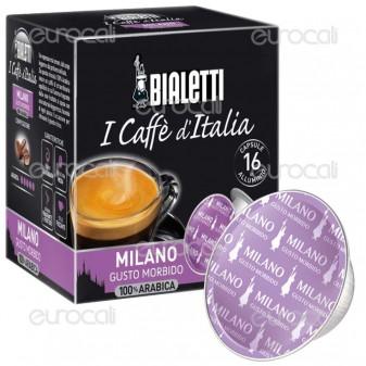 16 Capsule Caffè Bialetti Milano Gusto Morbido Cialde Originali Bialetti