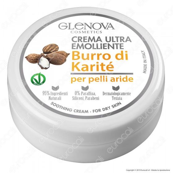 Glenova Cosmetics Crema Ultra Emolliente con Burro di Karité - Barattolo da 120ml