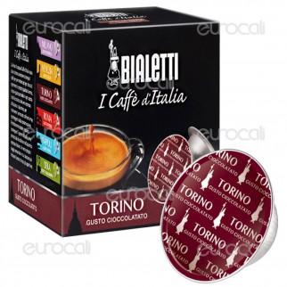 16 Capsule Caffè Bialetti Torino Gusto Cioccolatato Cialde Originali Bialetti
