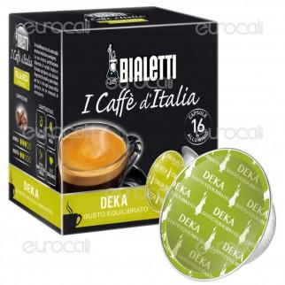 16 Capsule Caffè Bialetti Italia Deca Gusto Ricco Decaffeinato Cialde Originali Bialetti