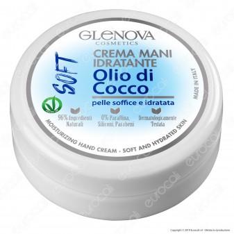 Glenova Cosmetics Crema Idratante con Olio di Cocco Ideale per le Mani - Barattolo da 120ml