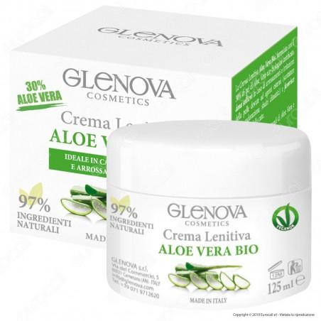 Glenova Cosmetics Crema Lenitiva Multiuso Aloe Vera Bio al 30% - Barattolo da 125ml