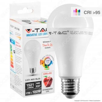 V-Tac VT-2217 Lampadina LED E27 17W Bullb A65 CRI ≥95 - SKU 7485 / 7486 / 7487