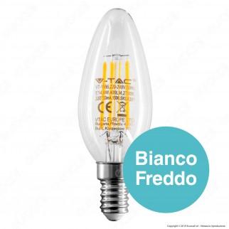V-Tac VT-1986 Lampadina LED E14 4W Candela Filamento - SKU 4301 / 4413 / 4414
