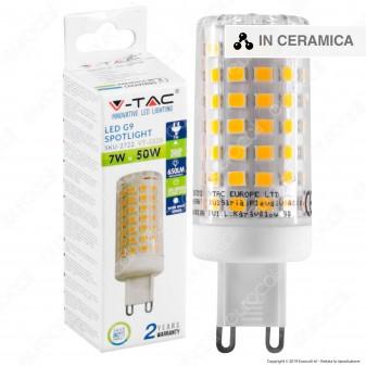 V-Tac VT-2228 Lampadina LED G9 7W Tubolare in Ceramica - SKU 2722 / 2723 / 2724