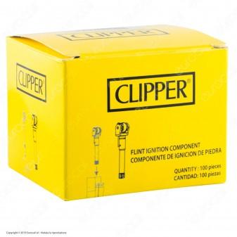 Clipper Pietrina con Pressatabacco per Accendini Micro e Large - Box da 100pz