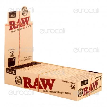 Cartine Raw Classic Supernatural 12 Inch King Size Lunghe Giganti - Scatola da 20 Libretti
