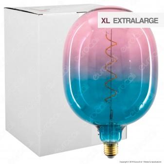 Daylight Lampadina E27 Filamento LED a Spirale 4W Tubolare XL con Vetro Blu e Rosa Dimmerabile - mod. 700260.00A