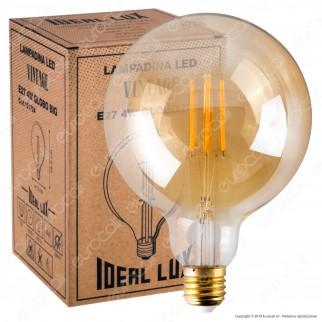 Ideal Lux Lampadina LED Vintage E27 4W Globo Big Filamento Ambrata - mod. 151724