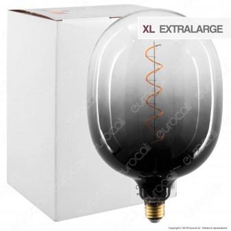 Daylight Lampadina E27 Filamento LED a Spirale 4W Tubolare XL con Vetro Nero Sfumato Dimmerabile - mod. 700262.00A