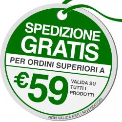 Spedizione Gratuita su Tutto l'Ordine con un Acquisto di Almeno 59€