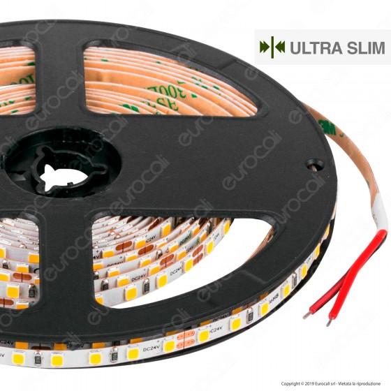 LEDCO Striscia LED 2835 Ultraslim 5mm Monocolore 120 LED/metro 24V - Bobina da 5 metri