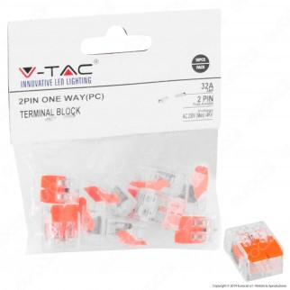 V-Tac Confezione con 10 Connettori Universali 2 Poli a 1 Uscita - SKU 11134
