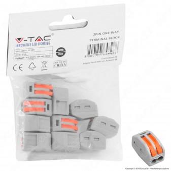 V-Tac Confezione con 10 Connettori Universali 2 Poli a 1 Via - SKU 11129