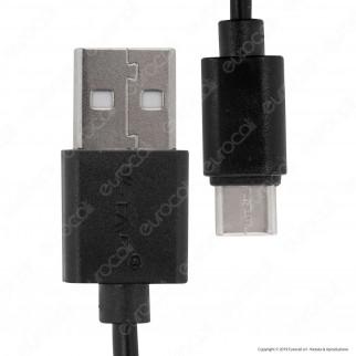V-Tac VT-5302 Pearl Series USB Data Cable Type-C Cavo Colore Nero 1m - SKU 8483