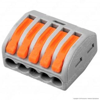 V-Tac Confezione con 10 Connettori Universali 5 Poli a 1 Via - SKU 11131