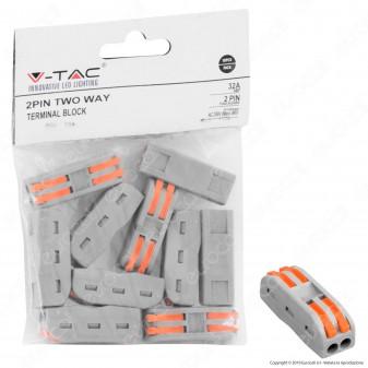 V-Tac Confezione con 10 Connettori Universali 2 Poli a 2 Vie - SKU 11132