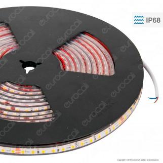 LEDCO Striscia LED 2835 Monocolore 240 LED/metro 24V Subacquea IP68 - Bobina da 5 metri