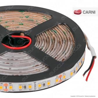 LEDCO Striscia LED 2835 Monocolore 120 LED/metro 24V IP65 per Macellerie - Bobina da 5 metri