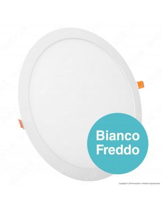 Led Factory Italia Pannello LED Rotondo 24W SMD da Incasso con Driver