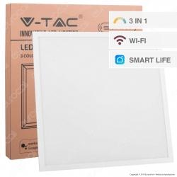 V-Tac Pannello LED 40W 60x60 Smart Life VT-5140 Wi-Fi Tricolor Dimmerabile - SKU 8080