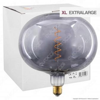 Daylight Lampadina E27 Filamento LED a Spirale 4W Globo XL con Vetro Grigio Dimmerabile - mod. 700190.00A