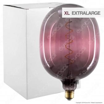Daylight Lampadina E27 Filamento LED a Spirale 4W Tubolare XL con Vetro Grigio e Rosa Dimmerabile - mod. 700263.00A