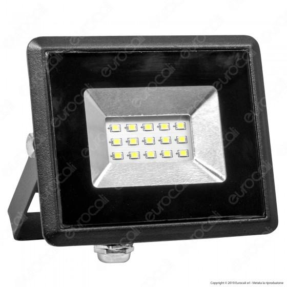 V-Tac VT-4011 E-Series Faro LED SMD 10W Ultra Sottile da Esterno Colore Nero Luce Colorata - SKU 5940 / 5941 / 5942