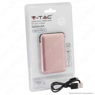 V-Tac VT-3510 Power Bank Portatile 5000 mAh 1 Uscita USB 2,1A - SKU 8864 / 8865 / 8866 / 8867 / 8868