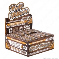 Pop FIlters Filtri In Carta Non Sbiancata - Scatola da 50 Blocchetti