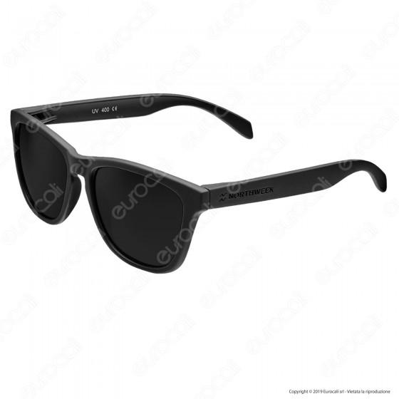 Northweek Regular Mod. All Black - Occhiali da Sole con Lenti Polarizzate Antigraffio