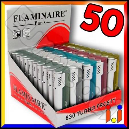 Flaminaire Paris Accendino Turbo Frosty Antivento - Box da 50 Accendini