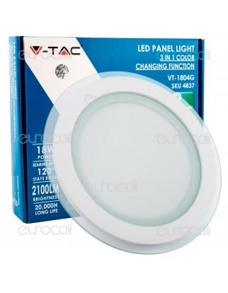 V-Tac VT-1804G-RD Pannello LED Rotondo 18W SMD2835 da Incasso