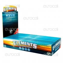 Cartine Elements 12 Inch King Size Lunghe Giganti - Scatola da 22 Libretti