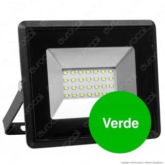 V-Tac VT-4021 E-Series Faro LED SMD 20W Ultra Sottile da Esterno Colore Nero Luce Colorata - SKU 5991 / 5993